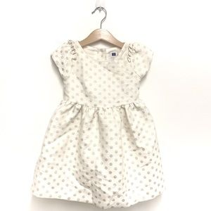 Janie and Jack Ivory Polka Dot Sleeveless Dress